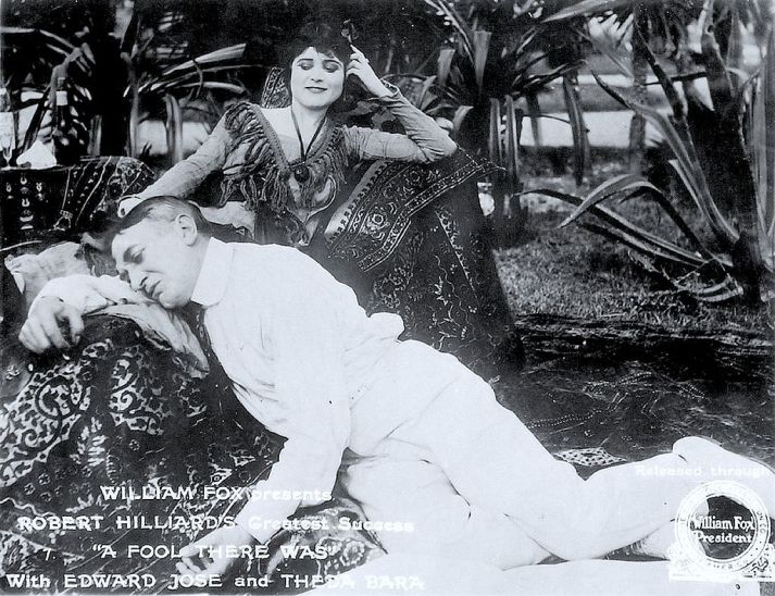 Publicity Still for A Fool There Was. Box Office Attractions Company / Fox Film Corp. ([1]) [Public domain], via Wikimedia Commons, 1915.