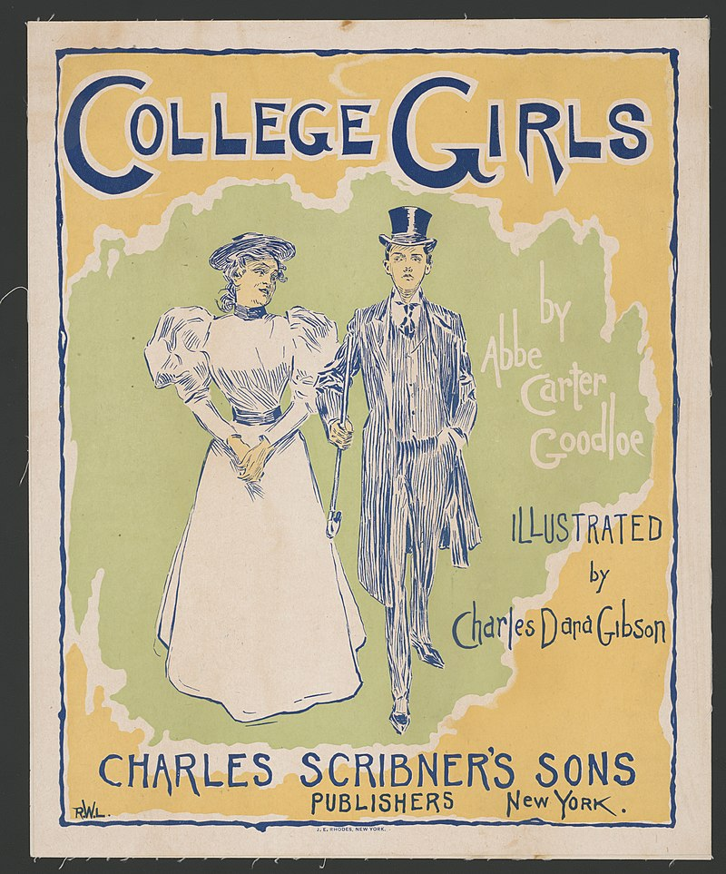 800px-College_girls_by_Abbe_Carter_Goodloe,_illustrated_by_Charles_Dana_Gibson._LCCN2014650127