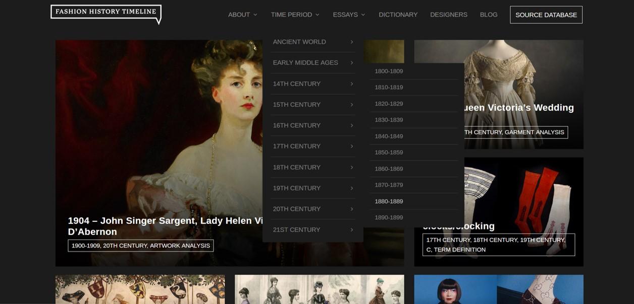 Fashion History Timeline