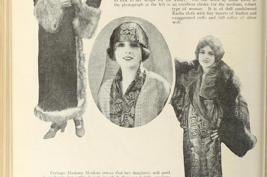 Winter Coats 1880-1930: Bundling Up with a Bustle, Feathers, Fur, and RisingHemlines